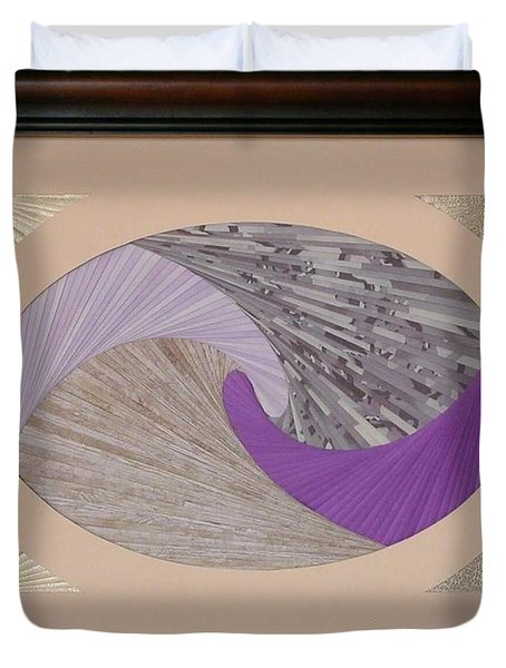 Duvet Cover featuring the mixed media Purple Passion by Ron Davidson