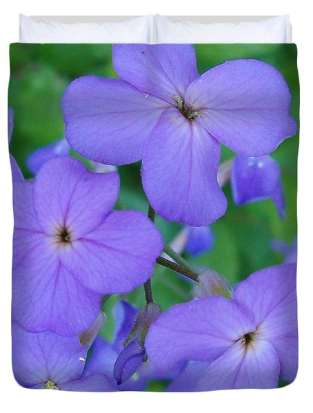 Duvet Cover featuring the photograph Purple Passion by Sara  Raber