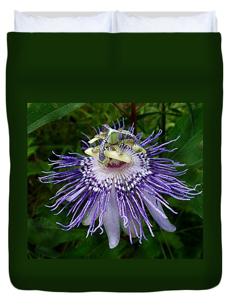 Purple Passionflower Duvet Cover