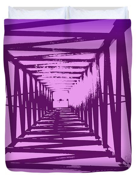 Purple Perspective Duvet Cover by Clare Bevan