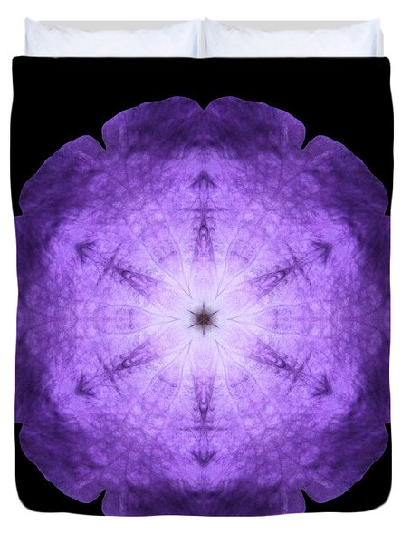 Purple Petunia I Flower Mandala Duvet Cover
