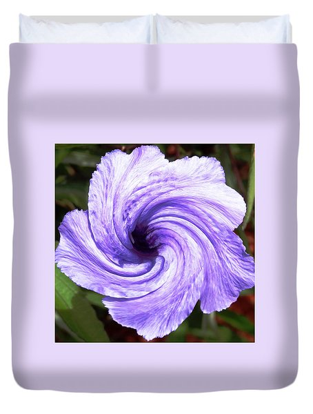 Purple Petunia Twirl Duvet Cover by Belinda Lee