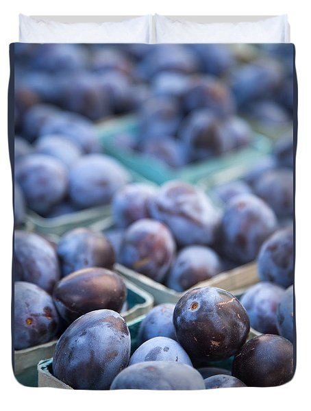 Purple Plums Duvet Cover