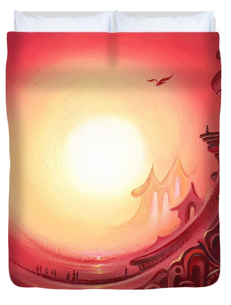 Purple Prayer Duvet Cover