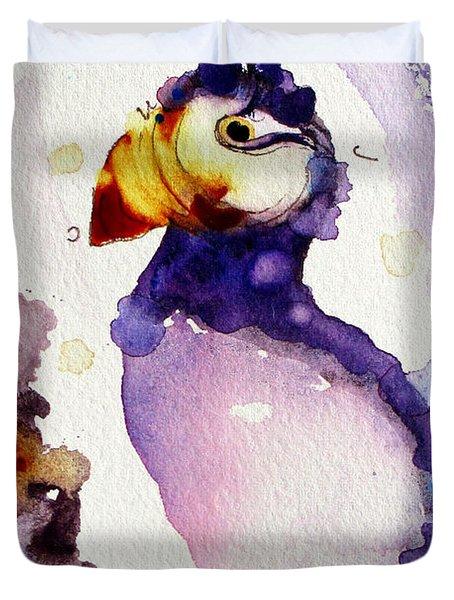 Purple Puffin Duvet Cover