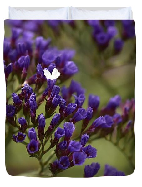 Purple Statice I Duvet Cover