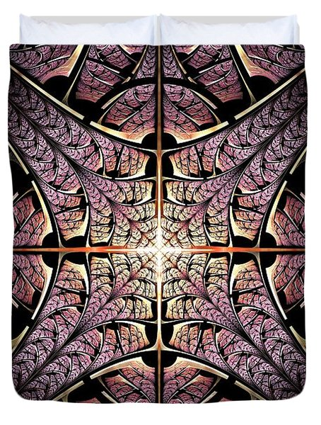 Purple Shield Duvet Cover by Anastasiya Malakhova