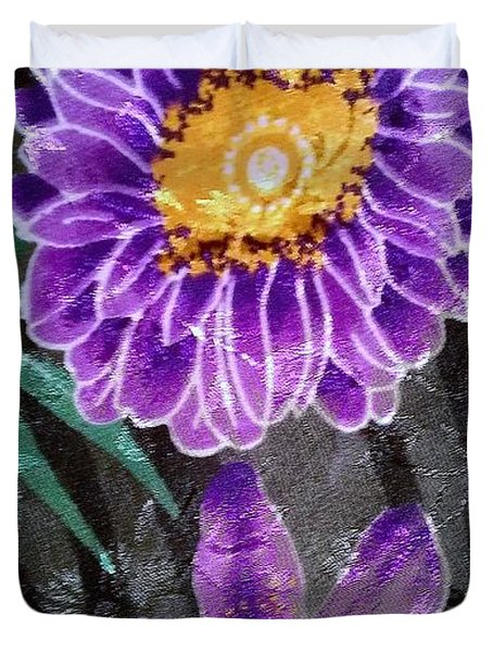 Duvet Cover featuring the photograph Purple Silk by Fortunate Findings Shirley Dickerson