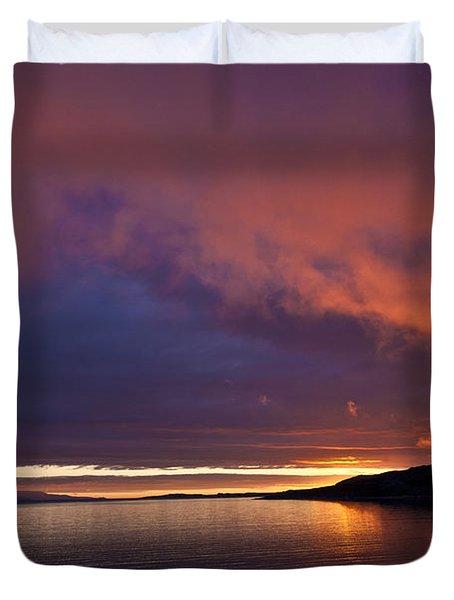 Purple Skies Duvet Cover by Heiko Koehrer-Wagner