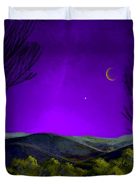 Purple Sky Duvet Cover by Carol Jacobs