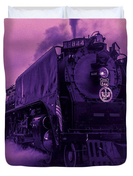 Duvet Cover featuring the photograph Purple Smoke by Bartz Johnson