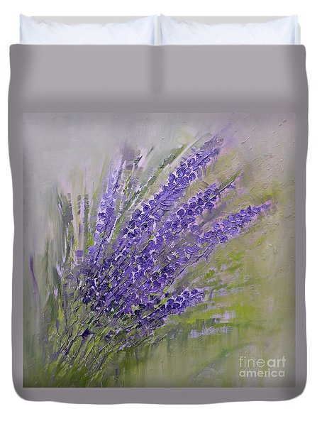 Purple Lavender Summer Duvet Cover