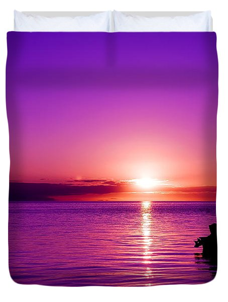 Purple Sunrise Duvet Cover