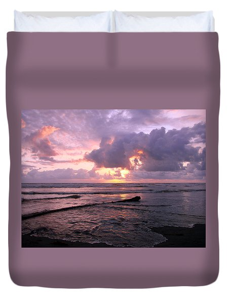 Purple Pink Sunset Duvet Cover by Athena Mckinzie