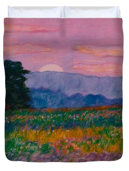 Purple Sunset On The Blue Ridge Duvet Cover