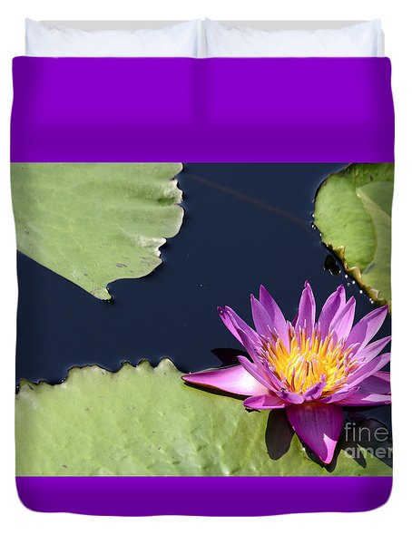 Purple Waterlilly Duvet Cover