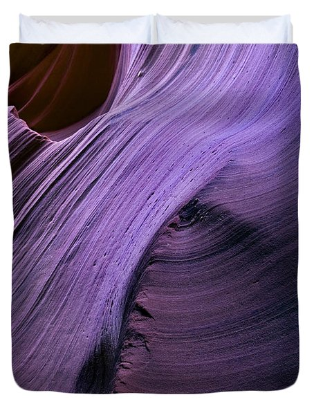 Purple Waves Duvet Cover by Mike  Dawson