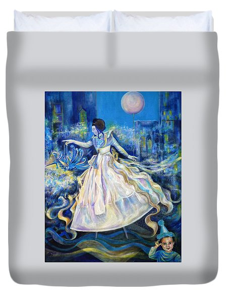 Pursuit Of Happiness Duvet Cover by Anna  Duyunova
