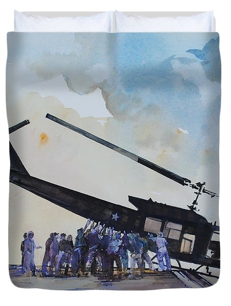 Pushover - South China Sea 1975 Duvet Cover