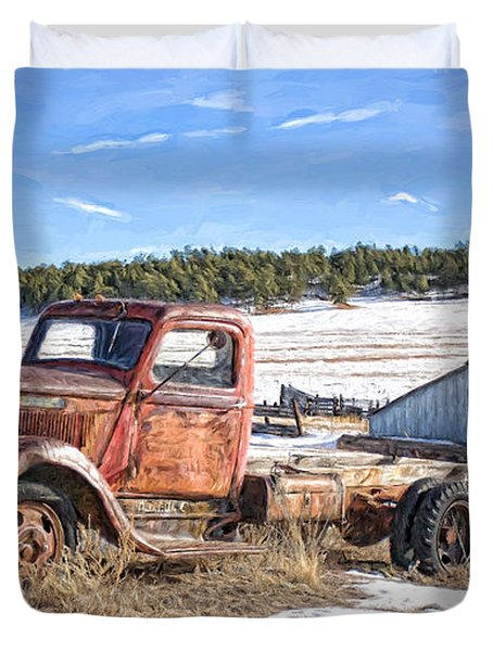 Put Out To Pasture Duvet Cover