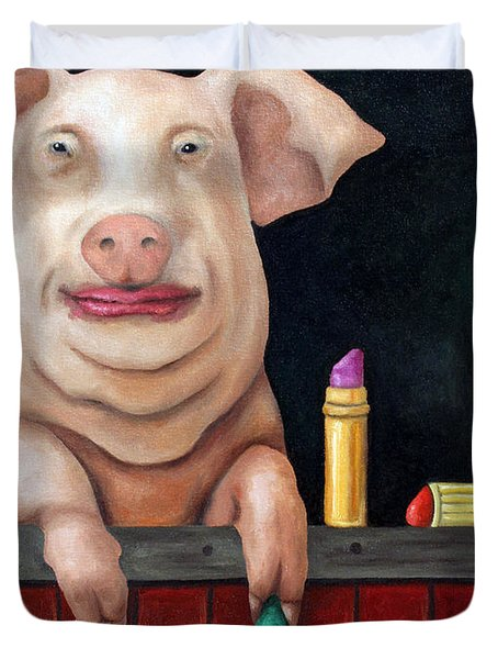 Putting Lipstick On A Pig Duvet Cover