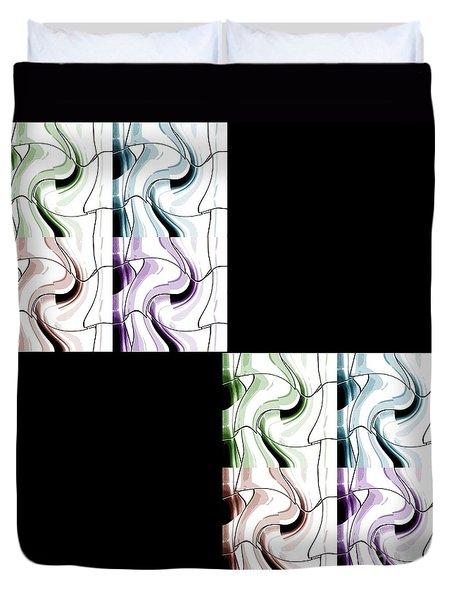 Puzzled 2 Duvet Cover