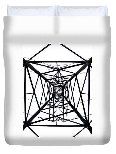 Duvet Cover featuring the photograph Pylon by Nina Ficur Feenan