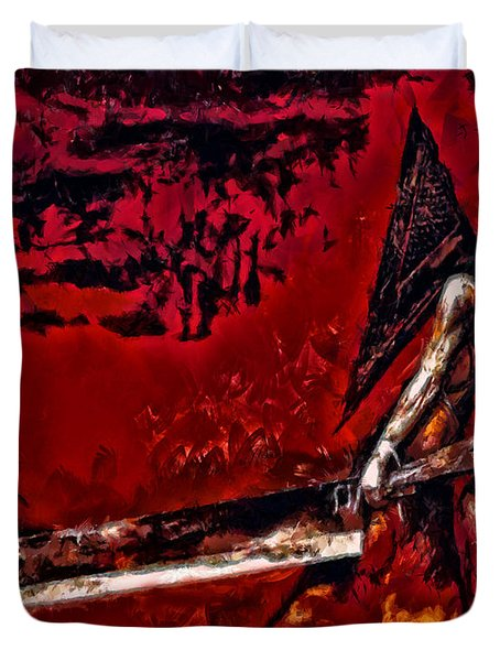 Pyramid Head Duvet Cover by Joe Misrasi
