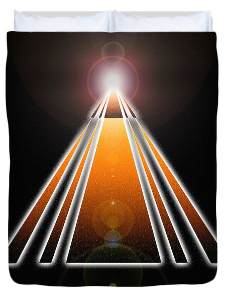 Pyramid Of Light Duvet Cover