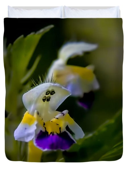 Duvet Cover featuring the photograph Walking Lady - Netle Flower In Shape Of A Litle Lade Out For Waking by Leif Sohlman