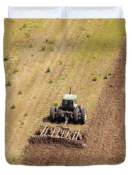 Quad Tractor Duvet Cover by John Ferrante