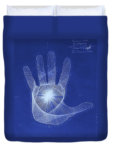 Quantum Hand Through My Eyes Duvet Cover