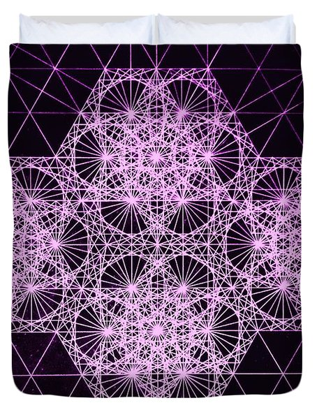 Quantum Snowfall Duvet Cover by Jason Padgett