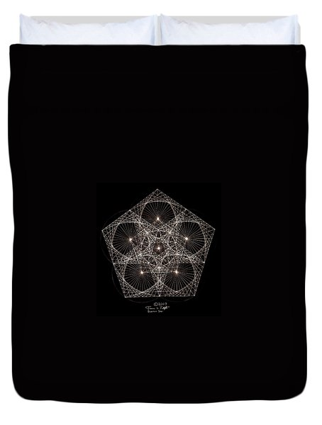 Quantum Star II Duvet Cover by Jason Padgett