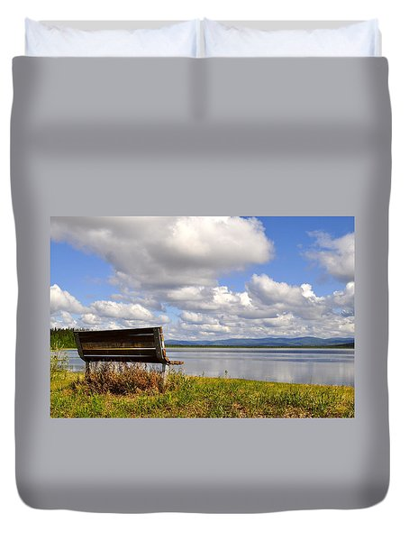 Duvet Cover featuring the photograph Quartz Lake by Cathy Mahnke