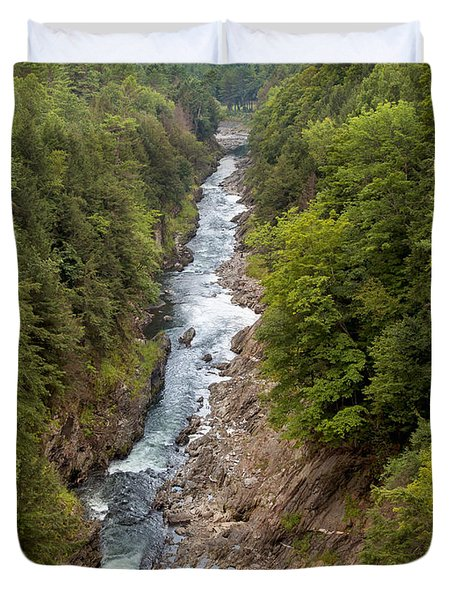 Quechee Gorge State Park Duvet Cover by John M Bailey