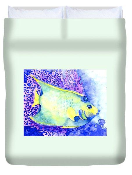 Queen Angelfish Duvet Cover