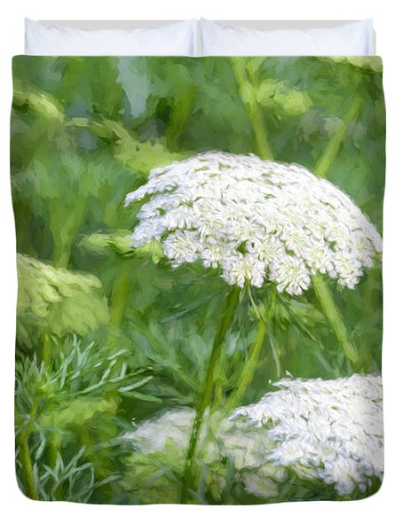 Queen Anne's Lace Impressions Duvet Cover