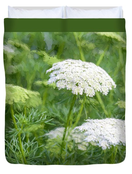 Queen Anne's Lace Impressions Duvet Cover by Sharon Seaward