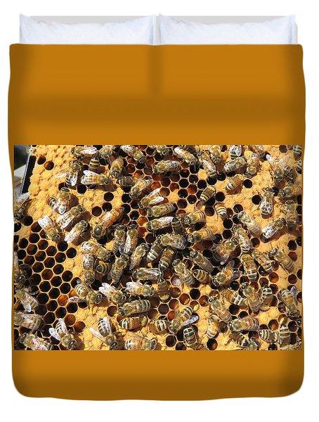 Queen Bee And Her Attendants Duvet Cover