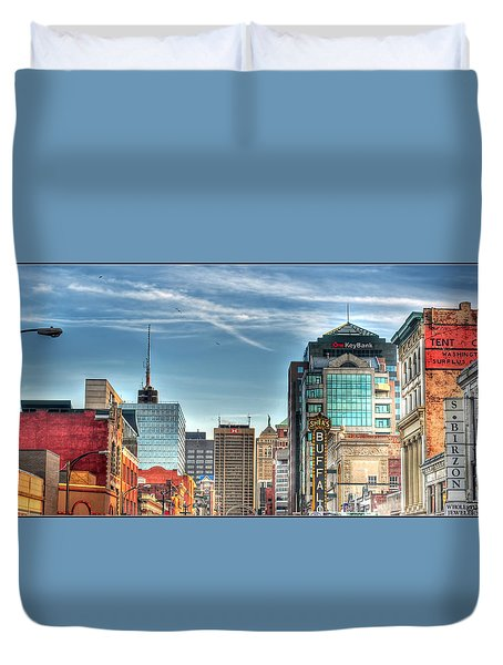 Queen City Downtown Duvet Cover by Michael Frank Jr