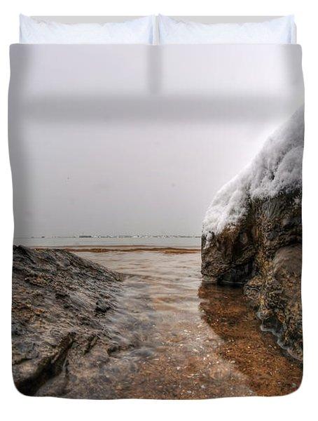 Queen City Winter Wonderland After The Storm Series 0041 Duvet Cover by Michael Frank Jr