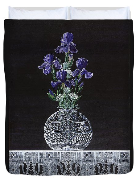 Queen Iris's Lace Duvet Cover