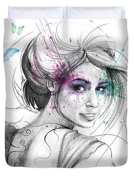 Queen Of Butterflies Duvet Cover