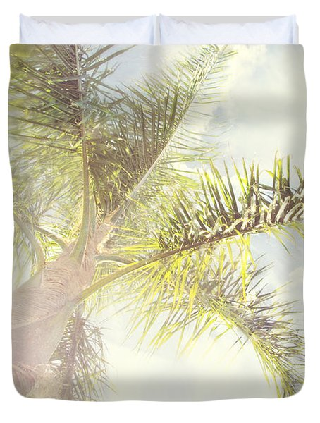 Queen Palm Duvet Cover