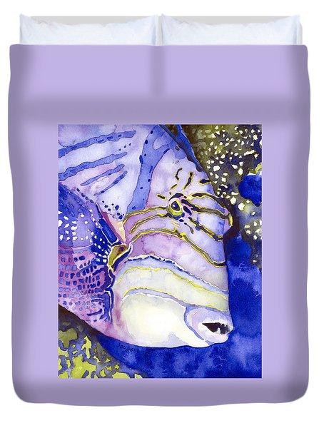 Queen Triggerfish Portrait Duvet Cover