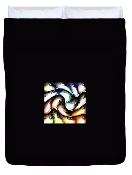 Duvet Cover featuring the digital art Queenly by Ann Calvo