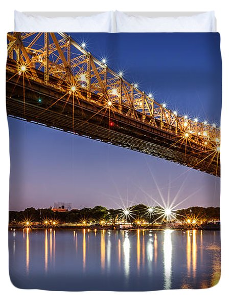 Queensboro Bridge Duvet Cover by Mihai Andritoiu