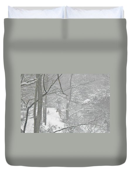 Querida In The Snow Storm Duvet Cover by Patricia Keller