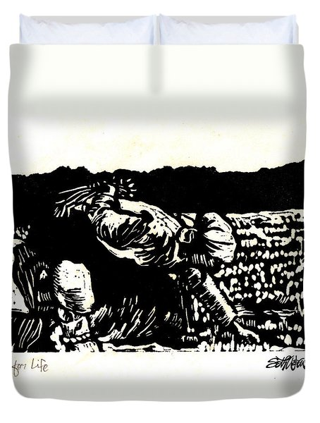 Quest For Life Duvet Cover by Seth Weaver